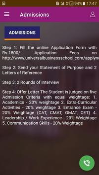 Universal Business School screenshot 1
