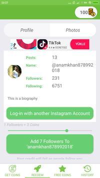 Girl Follower and Likes screenshot 3