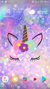 Cute Unicorn Girl Wallpapers - Kawaii backgrounds poster
