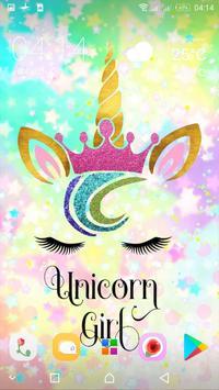 Cute Unicorn Girl Wallpapers - Kawaii backgrounds screenshot 1
