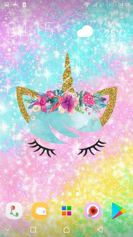 Cute Unicorn Girl Wallpapers Kawaii Backgrounds For Android Apk