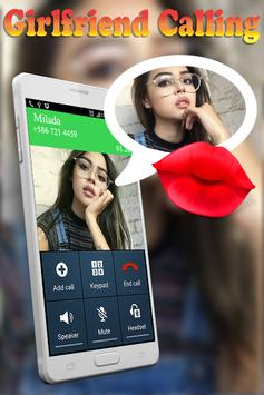 Fake Call and Chat Message Girlfriend poster
