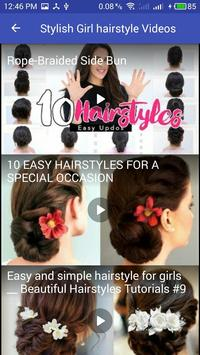 hairstyle 2018  For Stylish Girl At Home screenshot 2