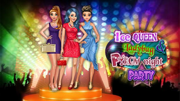 Ice Princess & Ladybug Prom Night Party Game screenshot 4