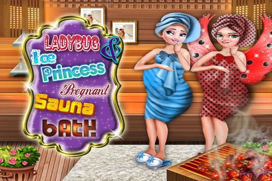 Ice Queen & Ladybug  Pregnant Sauna Bath screenshot 11