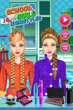 School Girl Hairstyle Salon poster