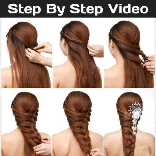 Girls Hairstyle Step By Step Video S For Wedding For Android Apk Download