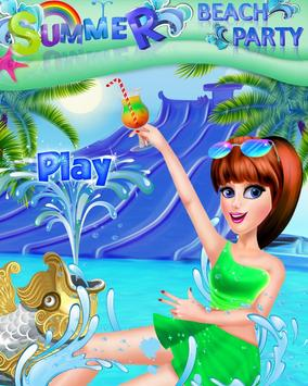 Fashion High School Summer - Beach  Party poster