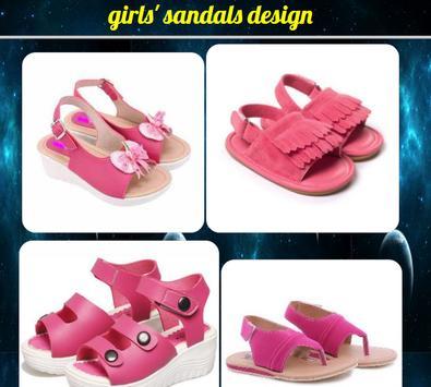 girls' sandals design poster