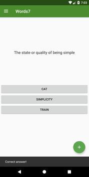 Words7 - Learn English vocabulary screenshot 1