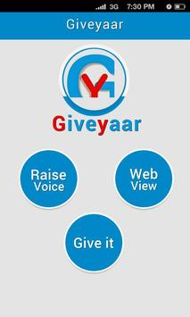 GiveYaar ! Help SomeOne poster