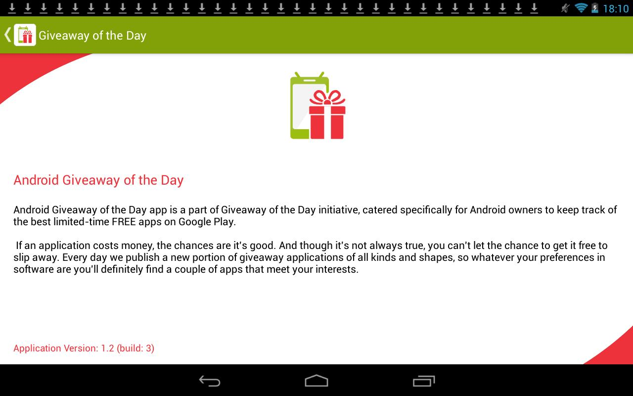 Giveaway for Android - APK Download