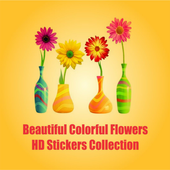 Beautiful Colourful Flowers HD Stickers Collection icon