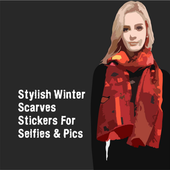 Stylish Winter Scarves Stickers For Selfies & Pics icon