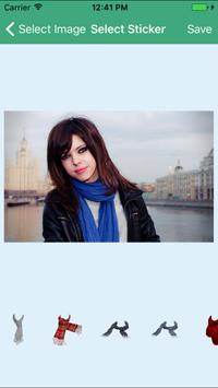 Stylish Winter Scarves Stickers For Selfies & Pics poster