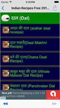 Free Indian Recipes- Collection of Indian Cuisines poster