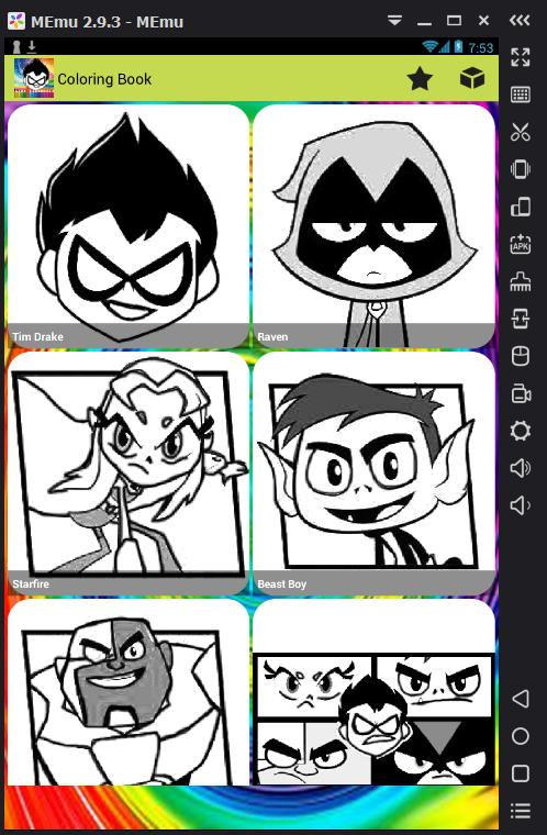 Juego Colorear Teen Titans For Android Apk Download