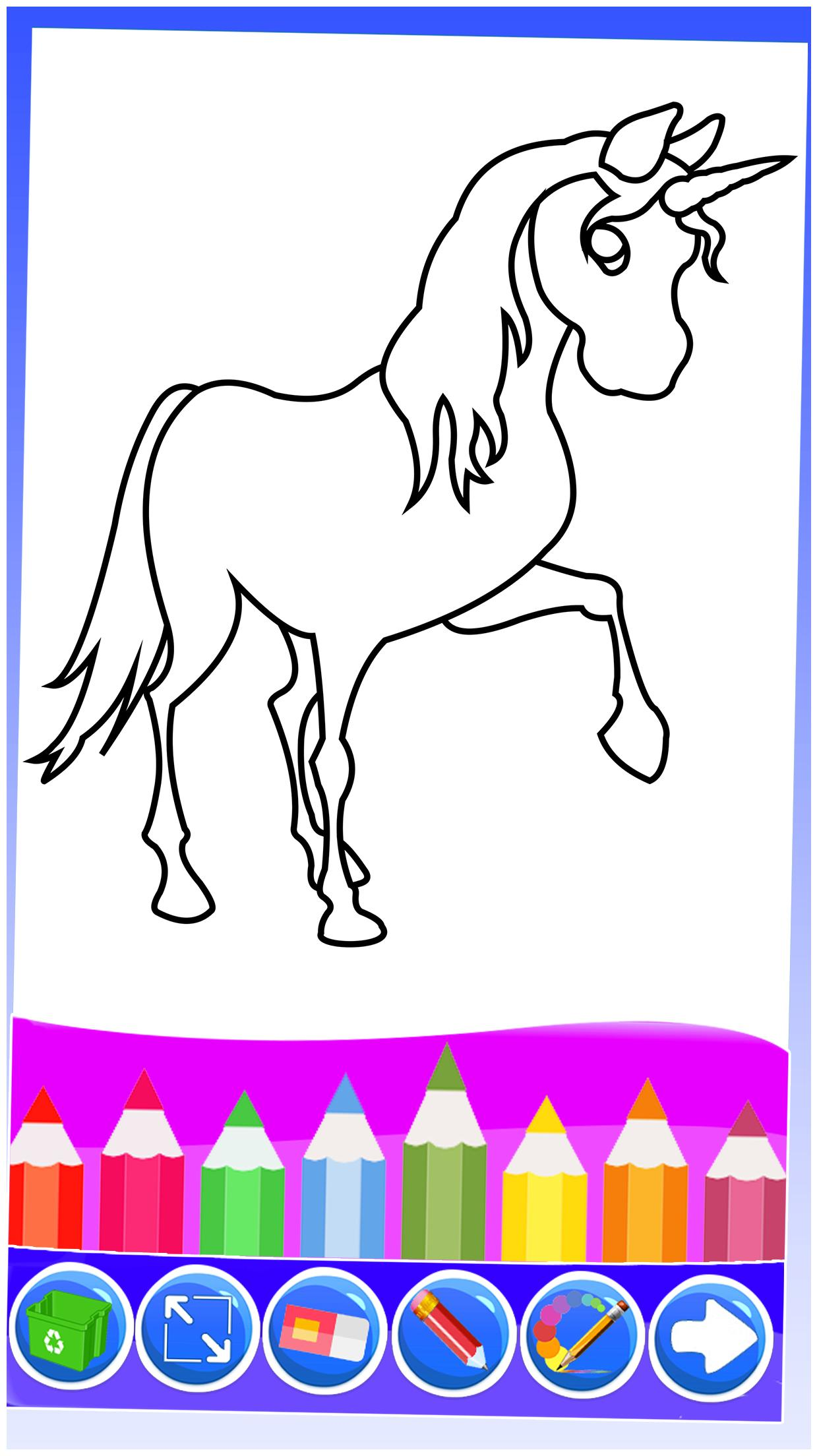 Unicorn Coloring Pages Kids Coloring Drawing Pour Android