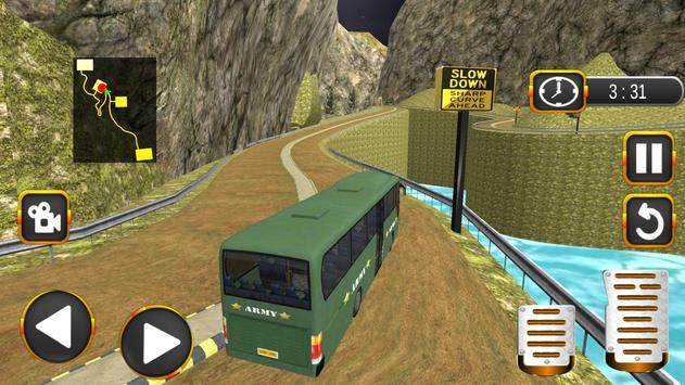 Coach Bus Driving Simulator US Army Transporter 3D poster