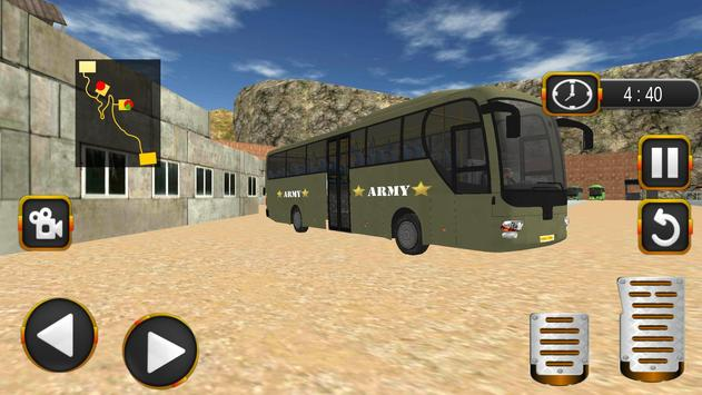 Coach Bus Driving Simulator US Army Transporter 3D screenshot 1