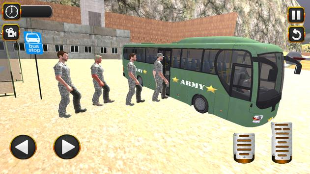 Coach Bus Driving Simulator US Army Transporter 3D screenshot 2