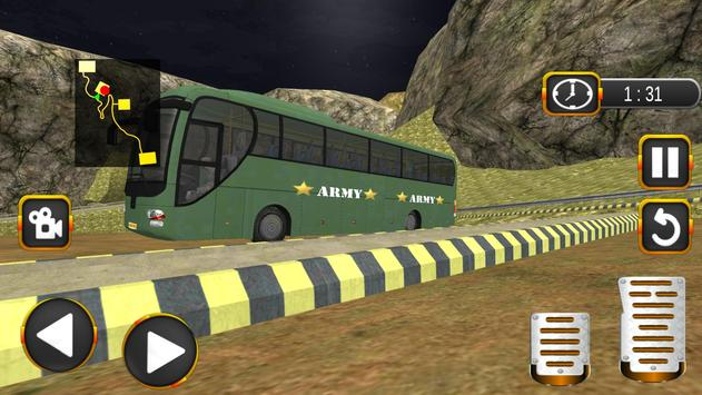 Coach Bus Driving Simulator US Army Transporter 3D screenshot 3