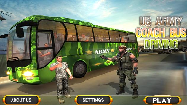 Coach Bus Driving Simulator US Army Transporter 3D screenshot 4