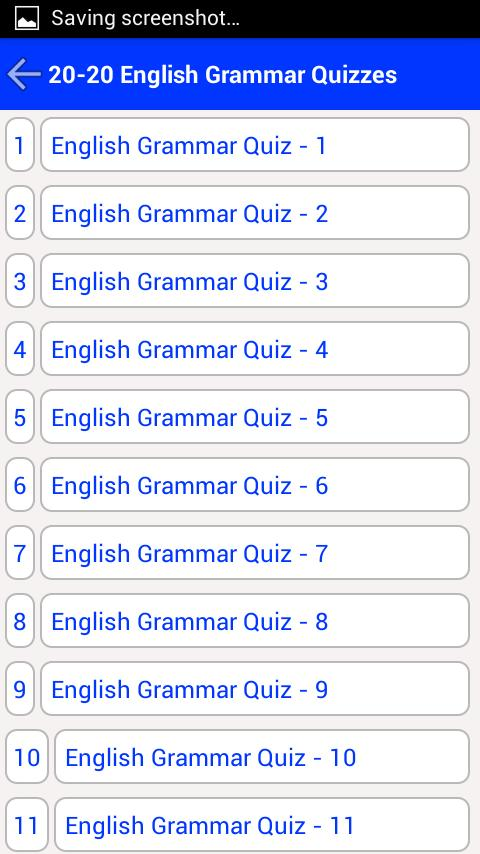 English Grammar Quiz for Android - APK Download