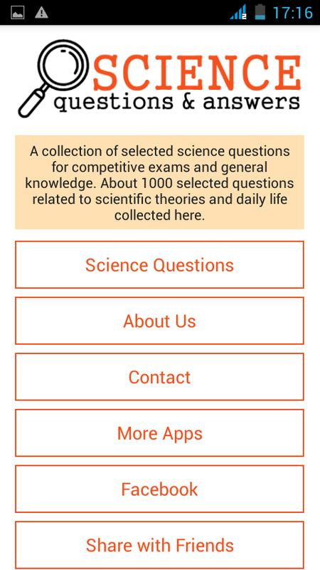 general science essay questions General science link added on 4/27/2018 activities from the exploratorium are featured in two exploratorium-at-home books however, this great museum does not force you to buy the book to try the activities.