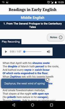 Readings in Early English apk screenshot
