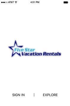 Five Star Vacation Rentals poster