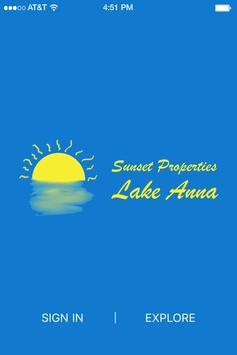 Sunset Properties Lake Anna poster