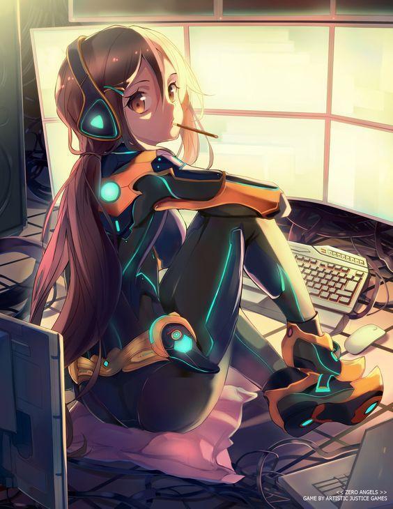 anime girls wallpaper poster