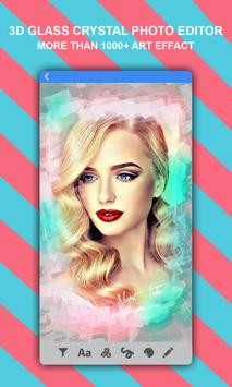 3D Glass Crystal Photo Effect Image Blur Editor screenshot 1