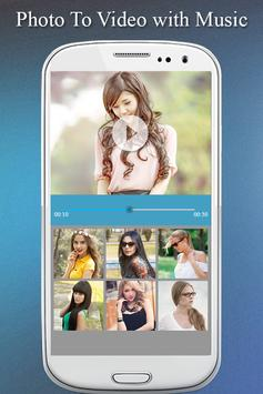 Photo To Video Maker with Music Photo Video Editor poster