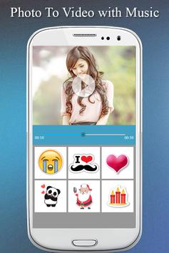 Photo To Video Maker with Music Photo Video Editor screenshot 1