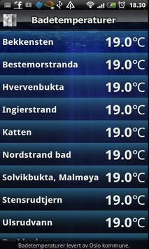 Badetemperaturer poster