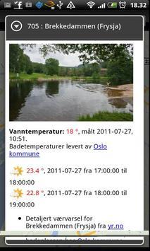 Badetemperaturer screenshot 2