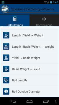 Glenroy Packaging Calculator apk screenshot
