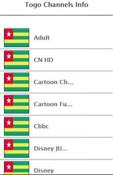 Togo Channels Info screenshot 1