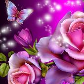 glitter rose wallpaper icon