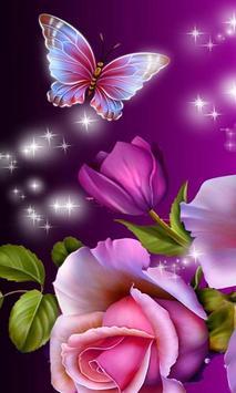 glitter rose wallpaper poster