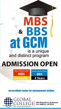 Global College of Management poster