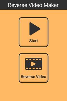 Reverse video maker poster