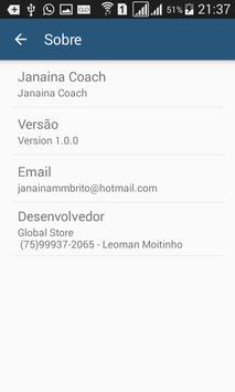 Janaina Coach apk screenshot