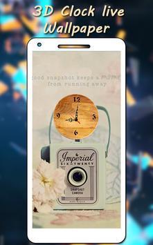 3D Clock Live Wallpaper apk screenshot