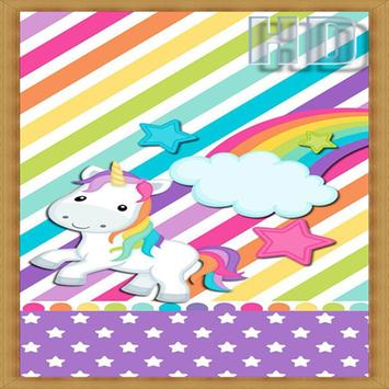 Cute Unicorn Wallpaper poster