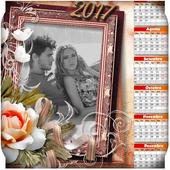 Calendar Photo Frames 2017 -  New Year icon