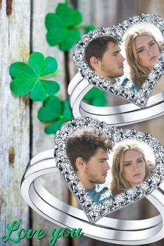 Lovely Ring Photo Frames poster