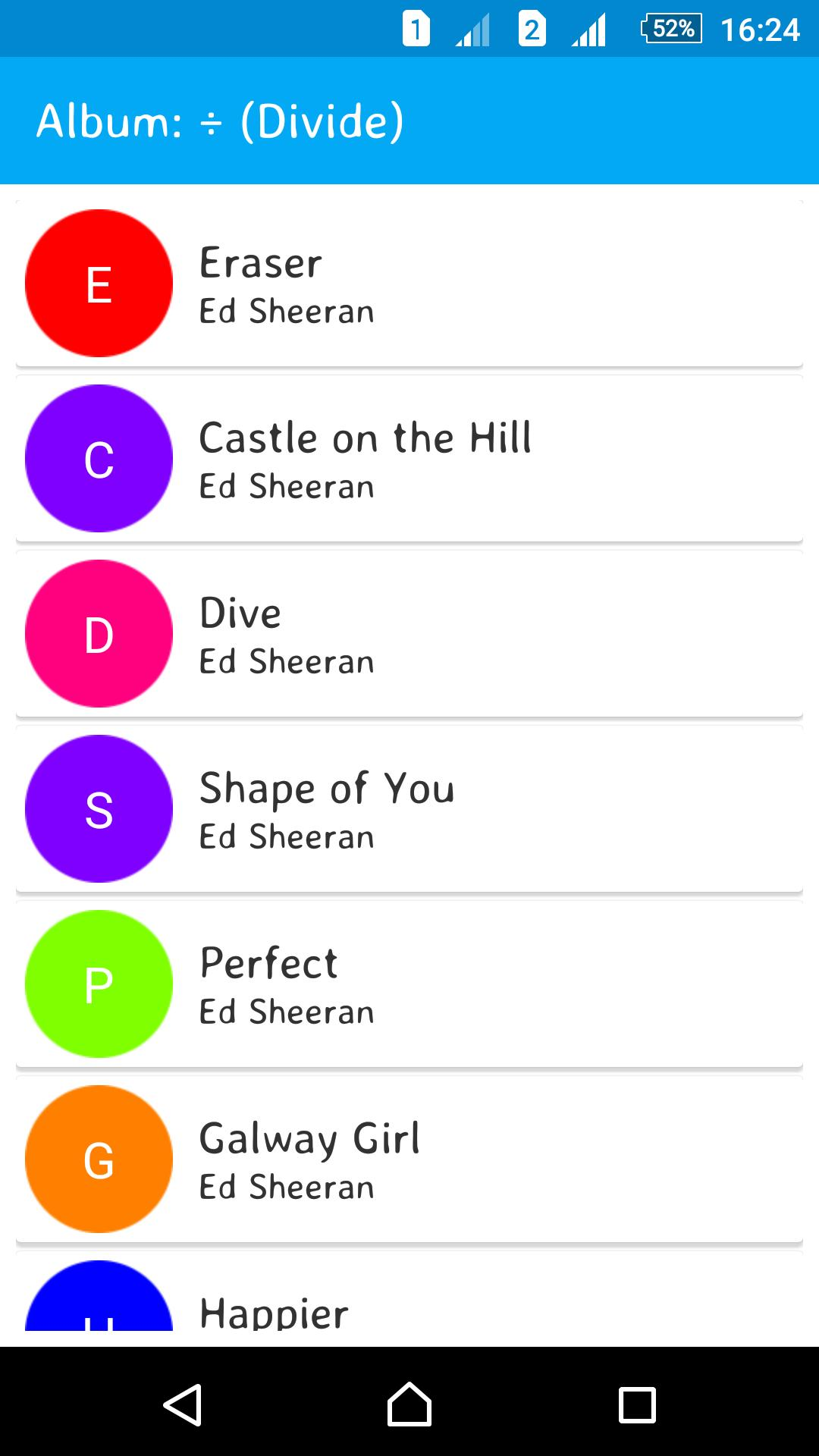 Divide - Ed Sheeran Lyrics for Android - APK Download